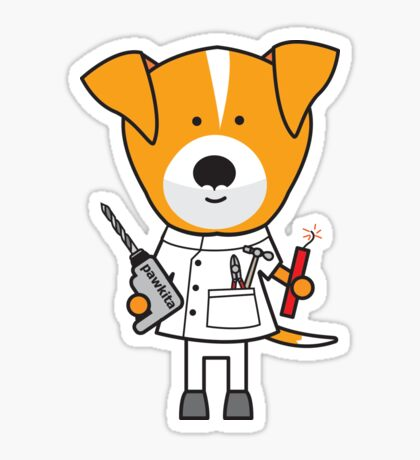 Daphne the Dentist Dog Sticker