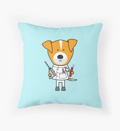 Daphne the Dentist Dog Throw Pillow