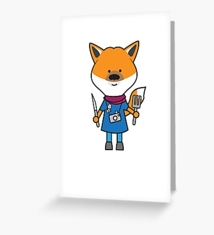 Fiona the Foodie Fox Greeting Card