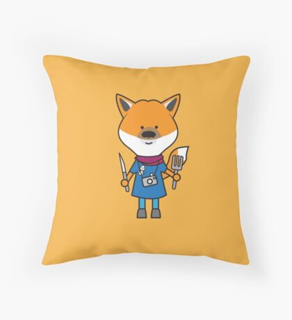 Fiona the Foodie Fox Throw Pillow