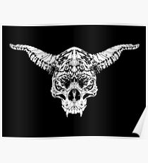 Ink Demon Skull Tattoo Devil Zombie 1 Poster