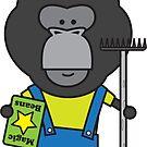 Gloria the Gorilla Gardener by samedog