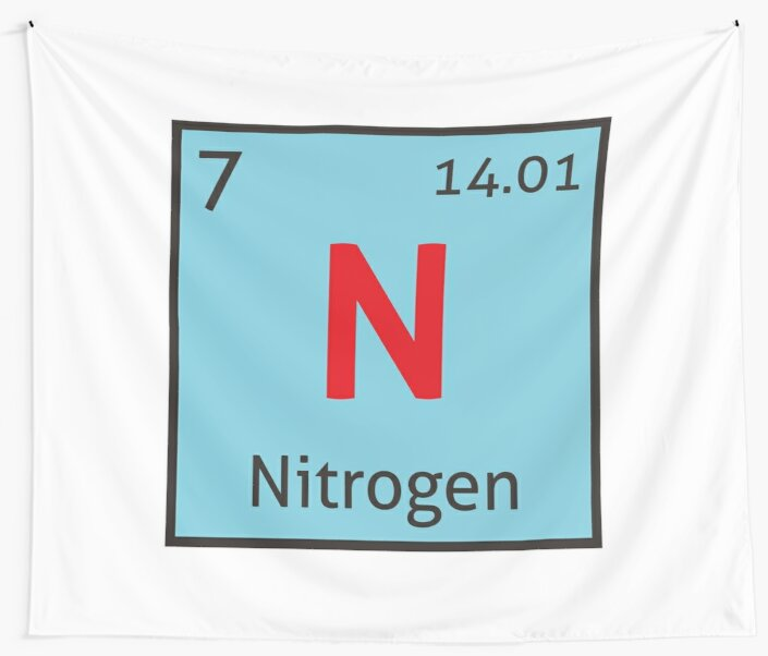 The periodic table nitrogen wall tapestries by destinysagent the periodic table nitrogen by destinysagent urtaz Gallery