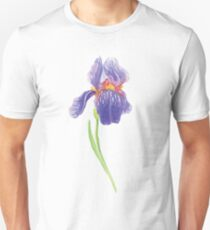 Iris water color painting Unisex T-Shirt