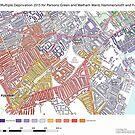 Multiple Deprivation Parsons Green & Walham ward, Hammersmith & Fulham by ianturton