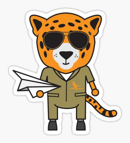 James the Jet Pilot Jaguar Sticker