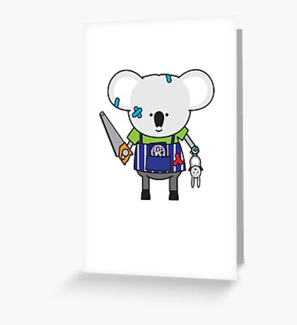 Kylie the Kitchen Hand Koala Greeting Card