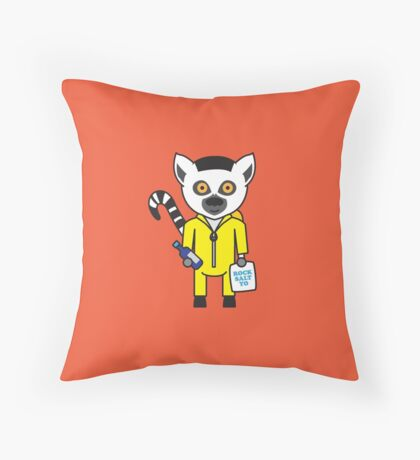 Leroy the Lab Assistant Lemur Throw Pillow
