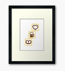 cool design drinking team pretzels beer pitcher drinking drinking party celebrate gingerbread heart pitcher fun eating hunger drinking alcohol symbol cool shirt oktoberfest Framed Print