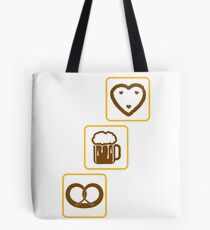 cool design drinking team pretzels beer pitcher drinking drinking party celebrate gingerbread heart pitcher fun eating hunger drinking alcohol symbol cool shirt oktoberfest Tote Bag