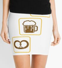 cool design drinking team pretzels beer pitcher drinking drinking party celebrate gingerbread heart pitcher fun eating hunger drinking alcohol symbol cool shirt oktoberfest Mini Skirt