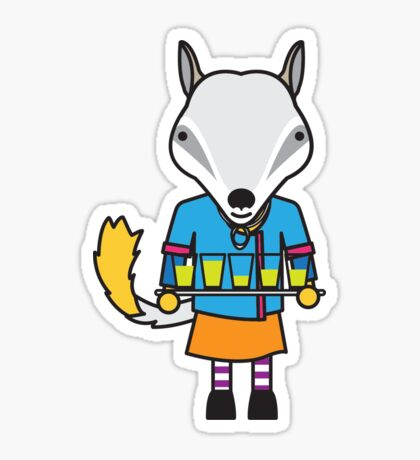 Naomi the Numbat Nutritionist Sticker