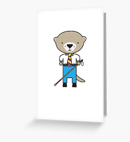 Oliver the Optometrist Otter Greeting Card