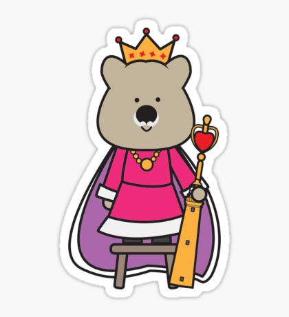 Quinn the Queen Quokka Sticker