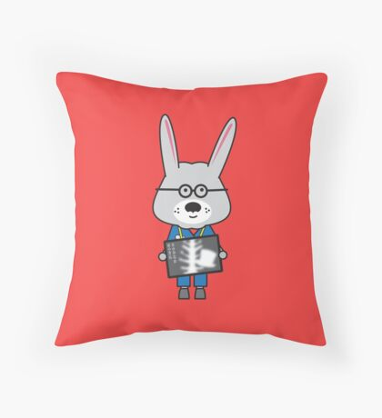 Rory the Radiographer Rabbit Throw Pillow
