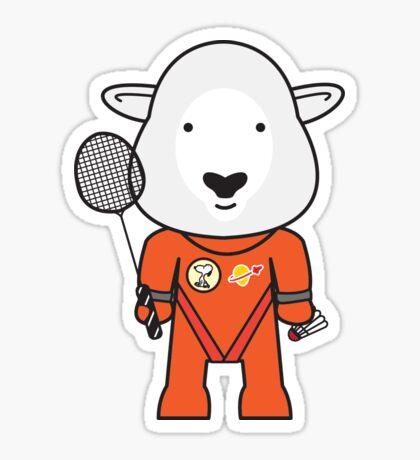 Sandra the Shuttle Commander Sheep Sticker