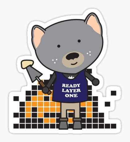 Tyler the Tiler Tasmanian Devil Sticker