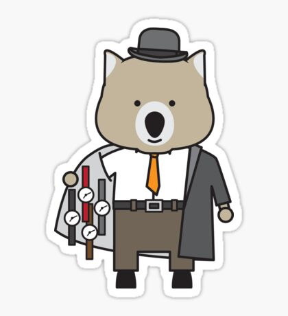 Warren the Watch Salesman Wombat Sticker