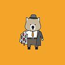 Warren the Watch Salesman Wombat by samedog