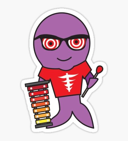 Xavier the Xylophonist X-Ray Tetra Sticker