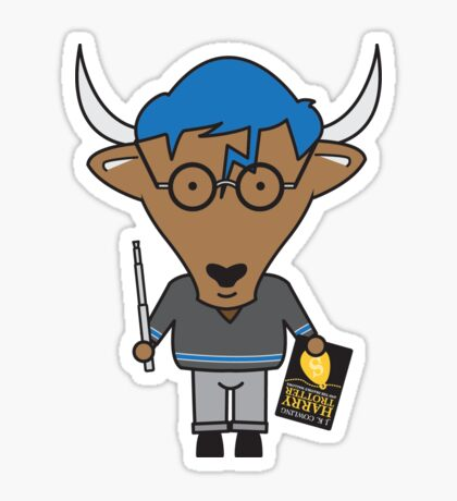 Yaxley the Young Adult Librarian Yak Sticker