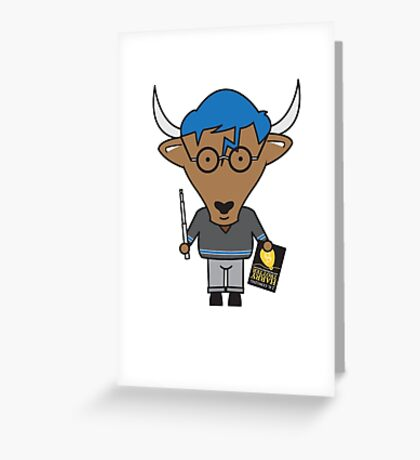 Yaxley the Young Adult Librarian Yak Greeting Card