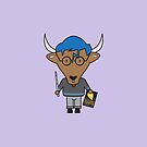 Yaxley the Young Adult Librarian Yak by samedog