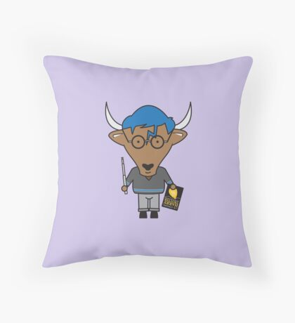 Yaxley the Young Adult Librarian Yak Throw Pillow