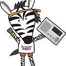 Zeke the Zumba Instructor Zebra by samedog