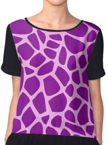 Giraffe pattern (pink and purple) Chiffon Top