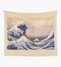 The Great Wave off Kanagawa by Katsushika Hokusai (c 1830-1833) Wall Tapestry