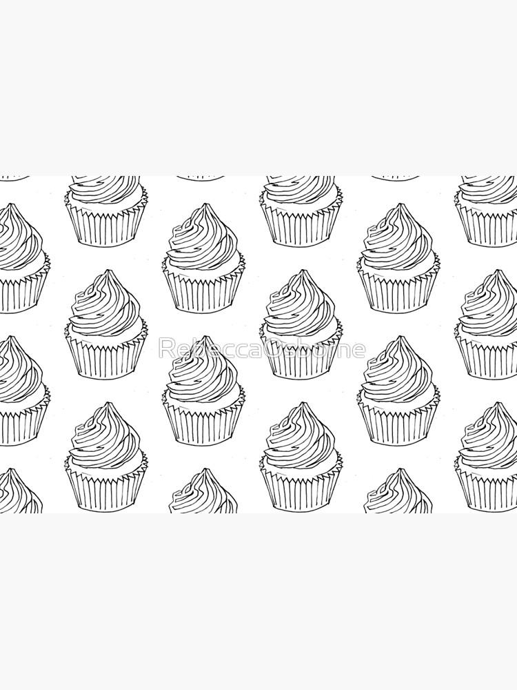 Página Para Colorear De Cupcake 2 Vinilo Para Portátil