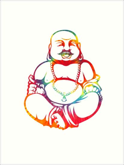 tie dye buddha art prints by kzenabi redbubble Tie Dye Hair tie dye buddha