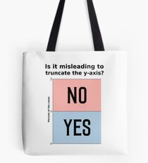 Is it misleading to truncate the y-axis? Funny Chart Tote Bag