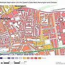 Multiple Deprivation Queen's Gate ward, Kensington & Chelsea by ianturton