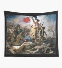 Liberty Leading the People by Eugène Delacroix (1830) Wall Tapestry