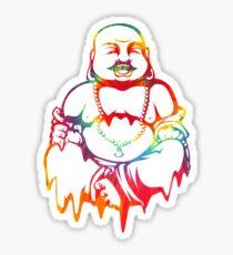 Melting Tie-Dye Buddha Sticker