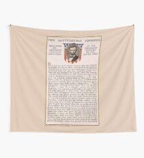 The Gettysburg Address Delivered by Abraham Lincoln Nov. 19 1863 Wall Tapestry