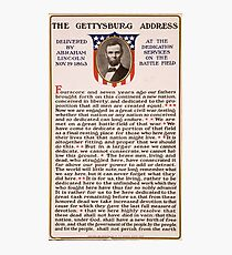 The Gettysburg Address Delivered by Abraham Lincoln Nov. 19 1863 Photographic Print