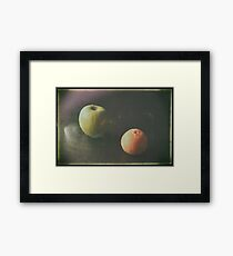 Green Apple and Tangerine Framed Print