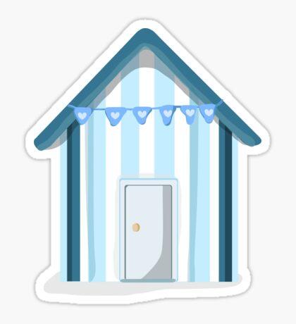 Little Blue Beach Hut Sticker