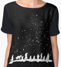 fellowship under starry sky Women's Chiffon Top