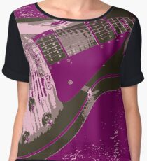 Les Paul Artwork - Purple Chiffon Top