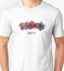 Exeter skyline in watercolor Unisex T-Shirt