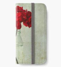Red Geraniums iPhone Wallet/Case/Skin