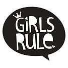 POP TYPE TYPOGRAPHY Girls Rule Black & white by Kat Massard