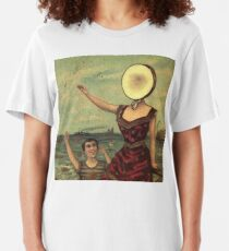 in the aeroplane over the sea Slim Fit T-Shirt