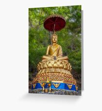 Golden Thai Buddha Greeting Card