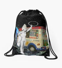Miss Whippy Hooping in Space Drawstring Bag