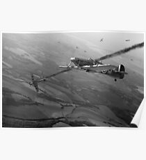 Battle of Britain dogfight B&W Poster